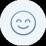 smiley face circle icon